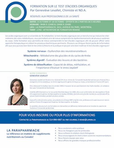 Interprétations cliniques de la méthylation             par Geneviève Levallet, Chimiste et ND.A.