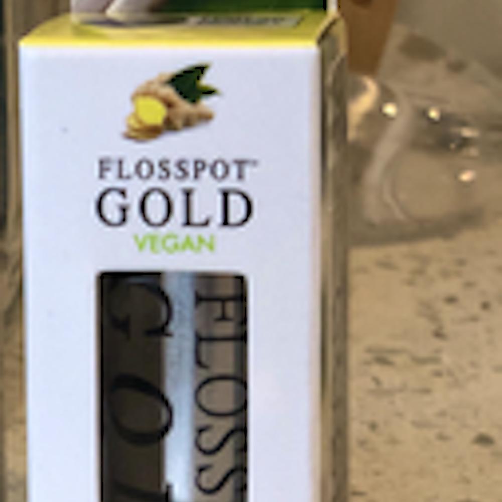 Flosspot GOLD vegan dental floss