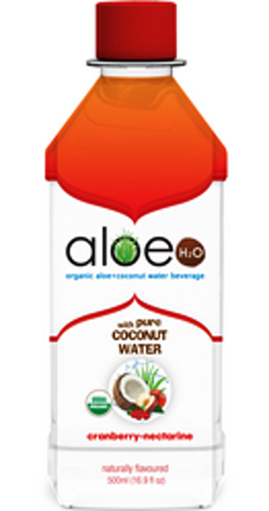 Aloe H2O w/Coconut- Cranberry 500ml