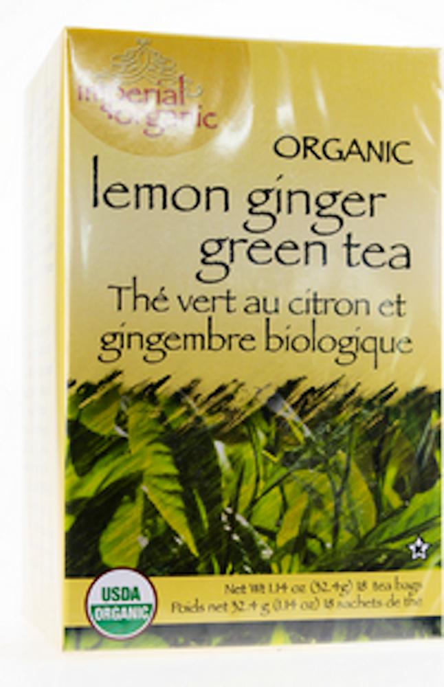 100% Organic Lemon Ginger Green Tea