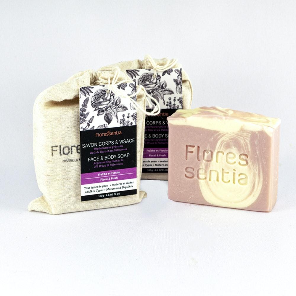 savon corps et visage Douce-florale / Face & body soap Soft-floral