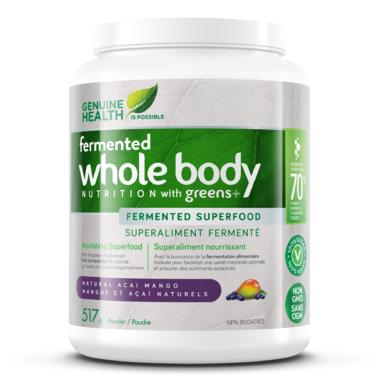 Fermented whole body nutrition with greens+ ( Mangue açai..